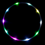LED Hula Hoop, color changing rainbow LEDs - The Ocho - FREE SHIPPING