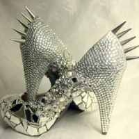 Cinderella Gone Bad - Spiked &amp; Sparkled Platform Heels : Everlastinglifashion | CHIQ