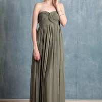 hydrangea sage dress at ShopRuche.com