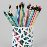 Geo Cutout Pencil Cup- Turquoise One