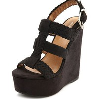 Sueded Gladiator Slingback Wedge: Charlotte Russe