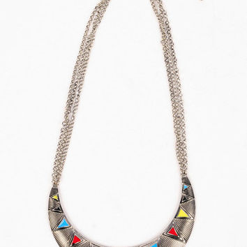Tri-Color Bib Necklace