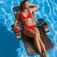 Adjustable Reclining Pool Floats at Brookstone. Shop Now!