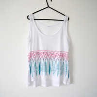 Pink and Green Tribal Top