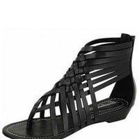 BLACK STRAPPY SANDALS @ KiwiLook fashion