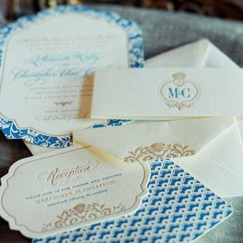 Stationary / Vintage invite