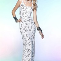 Amazing Mermaid One Shoulder  Floor Length Sequin Evening Dress-$158.97-ReliableTrustStore.com