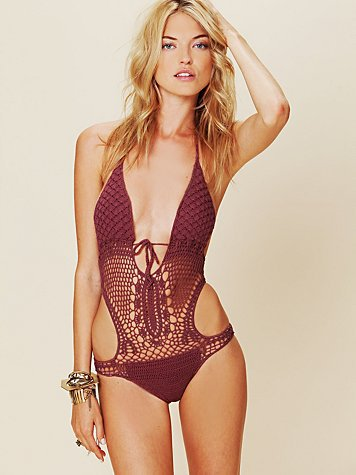 Free People Crochet Monokini