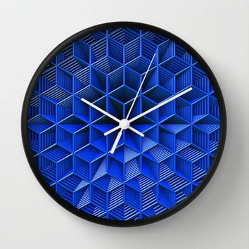 It's Blue Wall Clock by Lyle Hatch
