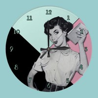 Sassy Secretary Wall Clock from Zazzle.com