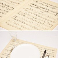 Sheet music place settings