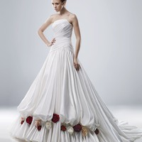Wholesale A Line Strapless Floor Length Gown with Taffeta Morgan for $259.00 from China : IndeedBuyer.com.  - IndeedBuy