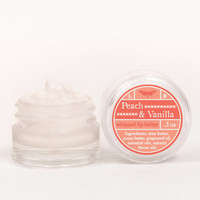 Whipped Lip Butter - Peach &amp; Vanilla - Natural Icing for Your Lips