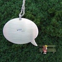 And the little girl said sterling silver pendant by melaniefavreau