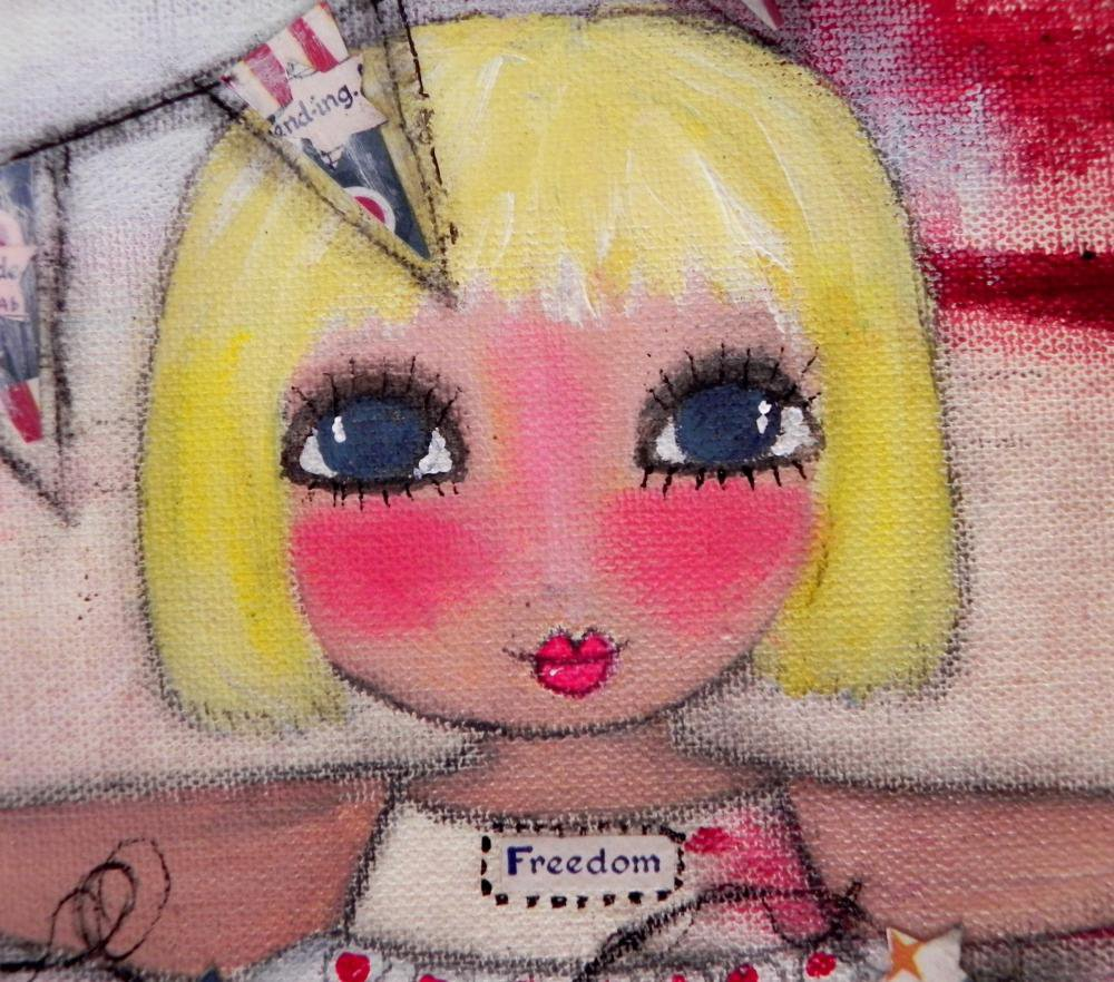 Miss Liberty Belle 12x12 ORIGINAL A.. on Luulla