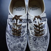 Desert LA Custom VANS  Shoes Size 8 (M) & 9.5 (W)