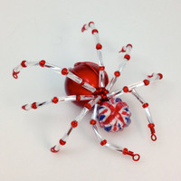 Red, White &amp; Blue Spider Pendant - Union Flag - UK Patriotic