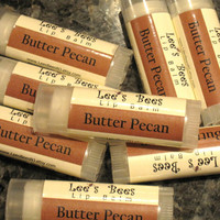 Butter Pecan All-Natural Lip Balm, One Tube of Beeswax Lip Salve Chapstick from Lee the Beekeeper