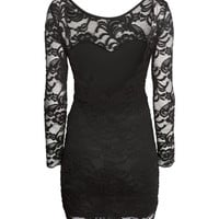 H&M - Lace Dress - Black - Ladies