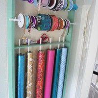 DIY / Centsational Girl » Blog Archive » DIY Wrapping Paper and Ribbon Organizer