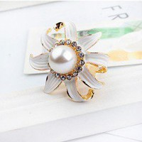 Mum Flower Statement Ring  | LilyFair Jewelry