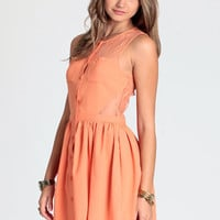 Tangerine Surprise Lace Dress - $44.00: ThreadSence, Women's Indie & Bohemian Clothing, Dresses, & Accessories