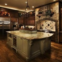new house ideas / Kitchens .com - Old World Kitchen Photos - Medieval Castle Kitchen#photo#photo