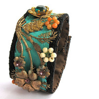 Bohemian Chic cuff - &quot;Julia&quot;
