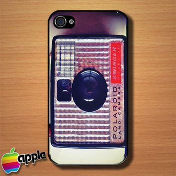 Swinger Polaroid Camera Custom iPhone 4 or 4S Case Cover