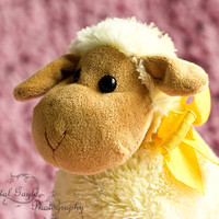 Yellow Sheep Girls Nursery Photography Print 8x10 toddler bedroom children's playroom pink wall decor art