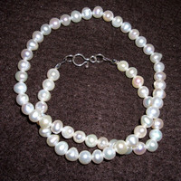 Ladies Potato Freshwater Pearl Necklace