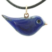 Enameled Bluebird Necklace No. 2