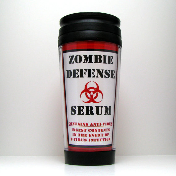 Resident Evil Zombie Apocolypse Travel Mug by kitschville on Etsy