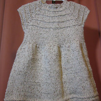 Handknit Girl's Dress 100 percent cotton