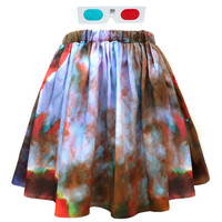 3D Galaxy Space Skirt