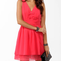 Bow Trio Skater Dress