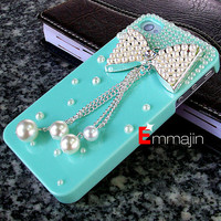 The best  iphone 4cases,Pearl varabow  iPhone 4 cases,iphone 4S  cases ,  Diamond varabow  iphone4 case,blue  iphone 4 4scase