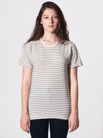 Unisex Stripe Tee | Crew Necks | Women's T-Shirts | American Apparel