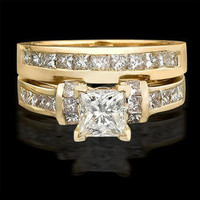 Engagement Rings -  2.00 ctw. 14K Gold Diamond Engagement Ring Set