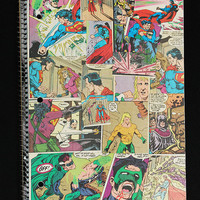Superman, Green Lantern, Aquaman Comic Notebook - back to school supplies - DC Comics