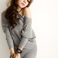Free Size Grey Women/Girl Kniting Top@T888g - $13.72 : DressLoves.com.