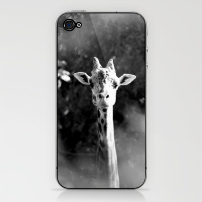 portrait of giraffe iPhone & iPod Skin by Marianna Tankelevich | Society6
