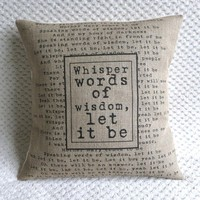 The Beatles Song Let It Be Burlap P.. on Luulla