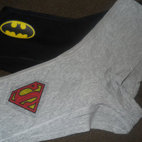 Superhero Panty Set. Batman And Superman. Customize By Size And Style.