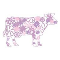 Purple Cow Wall Decals, Wall Stickers Art Without Boundaries-WALLTAT.com