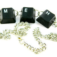 Unisex Necklace Recycled Computer Keyboard MEH