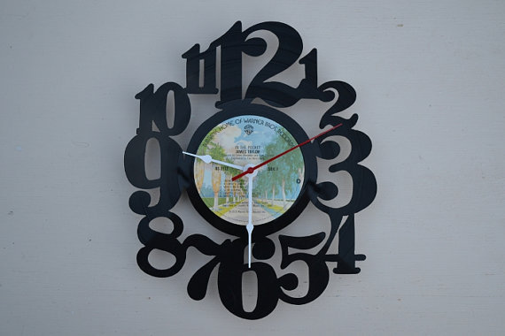 Vinyl Record Album Wall Clock (artist is James Taylor)