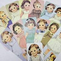 Super Cute Paper Book Marker Set of 14 Paper Doll