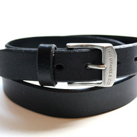 Vintage Levi Strauss & Co. Leather Belt
