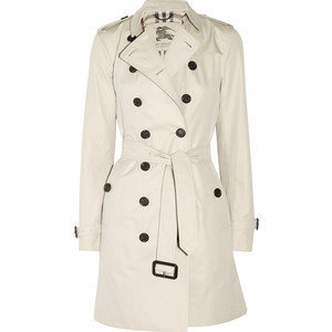 Burberry London Mid-length cotton-twill trench coat